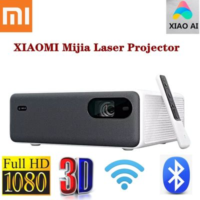 XIAOMI Mijia Projector 1080P Full HD Laser AI 3D HDR Phone MIUI TV 2400Lumens 2+16GB Wifi bluetooth 150Inch Speaker Home Theater