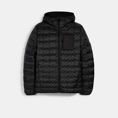 COACH Packable Hooded Down Jacket