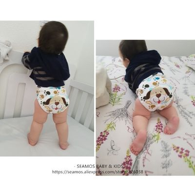 2pcs lot Baby Training Pants Baby Diaper Reusable Nappy Washable Diapers Cotton Learning Pants Kids Wear QD05