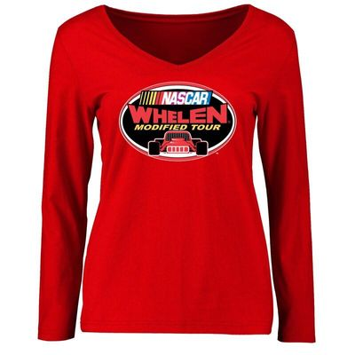 NASCAR Women's Whelen Modified Tour Logo Long Sleeve T-Shirt - Red