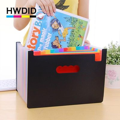 HWDID plastic A4/a4 expand document/file folder/organizer/case for documents/expanding/file foldable 24 pockets extension folder