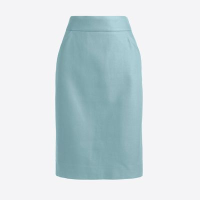 J.Crew Factory Petite Pencil Skirt In Double-serge Cotton