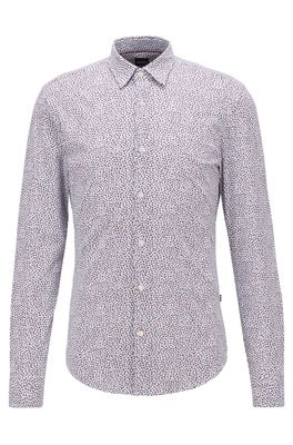 HUGO BOSS - Slim Fit Shirt With All Over Print