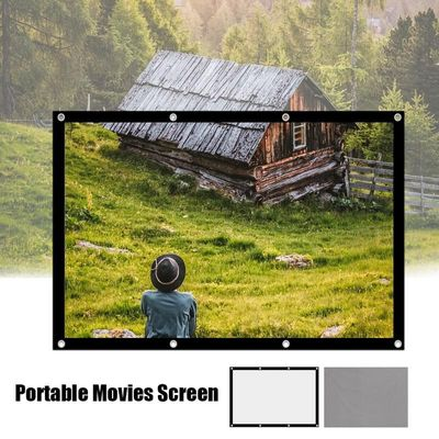 60 72 84 100 120 Inch 4:3 Portable Video Screen Widescreen Foldable Anti-Crease Indoor Outdoor Projector Screen For Home Office