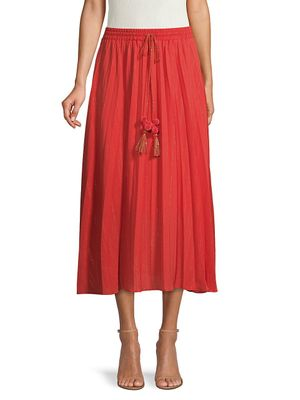 Central Park West Collins Pleated Skirt