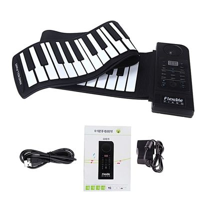 61 Key Electronic Piano Keyboard Silicon Flexible Roll Up