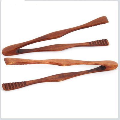 1 pc Wood Food Tongs Barbecue Steak Tongs Bread Dessert Pastry Clip Clamp Buffet Kitchen CookingTools
