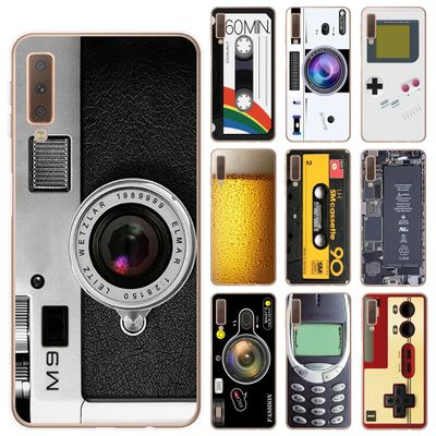 Vintage Tape Camera Gameboy Phone Cover For Coque Samsung A7 A9 A6 A8 Plus 2018 A10 A20 A30 A40 A50 A60 A70 A80 TPU Cases Fundas