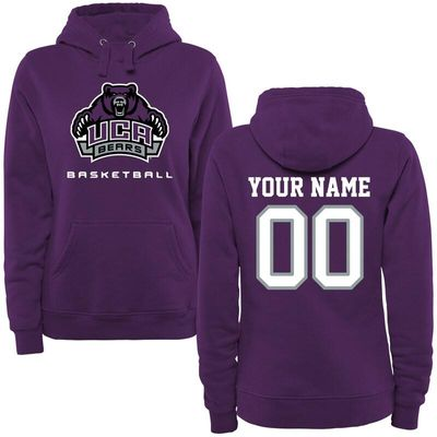 Central Arkansas Bears Women's Personalized Basketball Pullover Hoodie - Purple