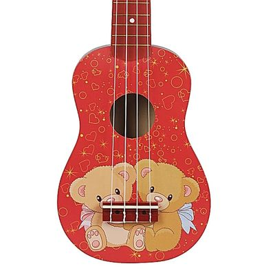 21'' Mini Acoustic Guitar 4 String Ukulele Gift For Kids Music Lovers Colorful