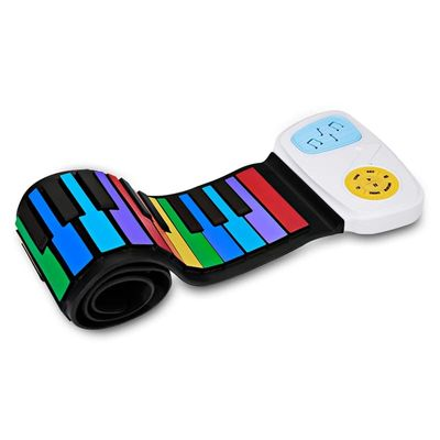 Multi Style Portable 49 Keys Flexible Silicone Roll Up Piano Folding Electronic Keyboard For Children Student