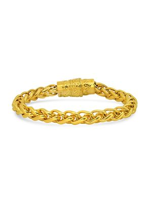 Anthony Jacobs 18K Goldplated Stainless Steel Bracelet