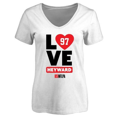 Cameron Heyward Fanatics Branded Women's I Heart V-Neck T-Shirt - White