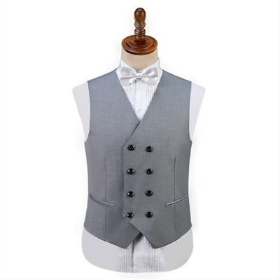 Men's High Quality Suit Vest Korean Slim Fashion Design Suit Vest Casual Suit Stage Performance Clothing
