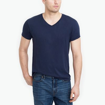 J.Crew Factory Tall Slim Washed Jersey V-neck Tee