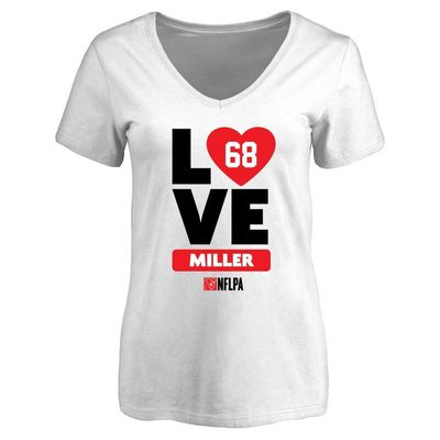 Patrick Miller Fanatics Branded Women's I Heart V-Neck T-Shirt - White