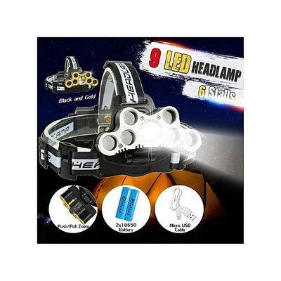 Zoomable 7*XML-T6+2*XPE Headlamp Headlight Lamp 18650USB Rechargeable