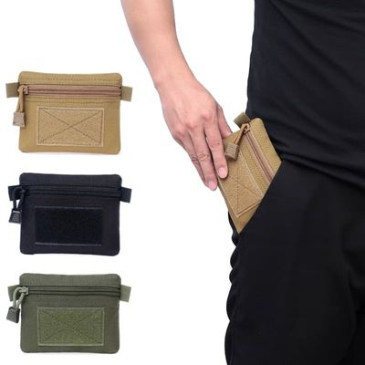 1pc Multifunctional Portable Coin Purse bag Outdoor Commuter Military Tactical Coin Wallet Key Card Case Hunting bag