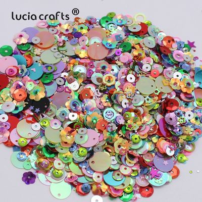 Lucia crafts 20g/lot Mix Sizes/Shapes Flake Cup Confetti Loose Sequins Paillettes Sewing&Wedding Accessories D0902
