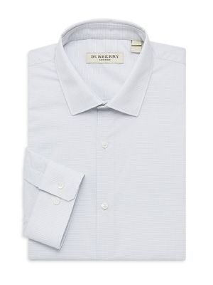 Burberry Modern-Fit Printed Dress Shirt