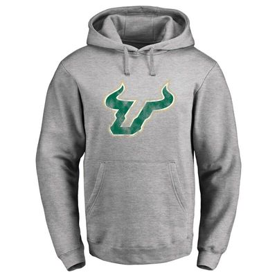 South Florida Bulls Classic Primary Logo Pullover Hoodie - Ash