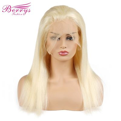 [Berrys Fashion] Full Lace Human Hair Wigs Straight 130% Density Natural Hairline Free Part Peruvian Remy Hair