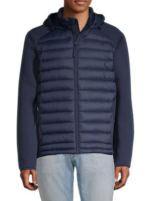 Saks Fifth Avenue Mixed-Media Hooded Down Puffer Jacket