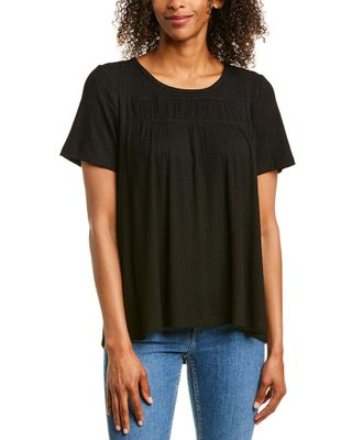 Very J Ribbed Peasant Top