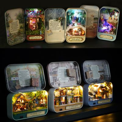 CUTE ROOM Doll House Furnitures Box Theatre DIY Model Miniatures Wooden Dollhouse Toys For children Countryside Notes