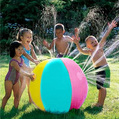 2019 Newest Hot Inflatable PVC Water Spray Beach Ball for Outdoor Lawn Summer Game Children's Toy Ball Water Jet Ball
