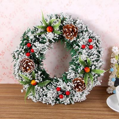 20# Beautiful Elegant Hanging Christmas Wreath Garland Ball Cone Xmas Ornaments Window Door Decoration New Year