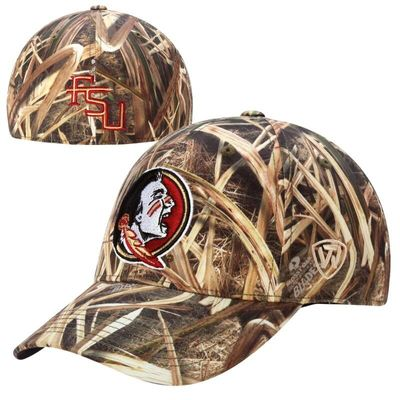 Florida State Seminoles Top of the World Blades Memory Fit Flex Hat - Camo