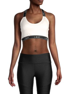 LA LA Anthony Logo-Tape Sports Bra
