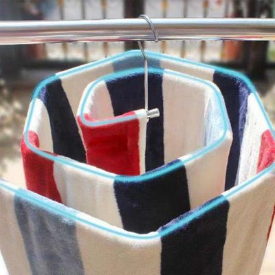 9.5mm Hanger Balcony Blanket Towels Stainless Steel Quilt Yard Space Saving Rotating Spiral Shaped Drying Rack Strong Bearing