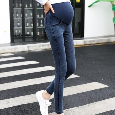 Maternity Pregnancy Skinny Trousers Jeans Over The Pants Elastic Casual Pockets Slim Pants women fashion Casual fashion thin