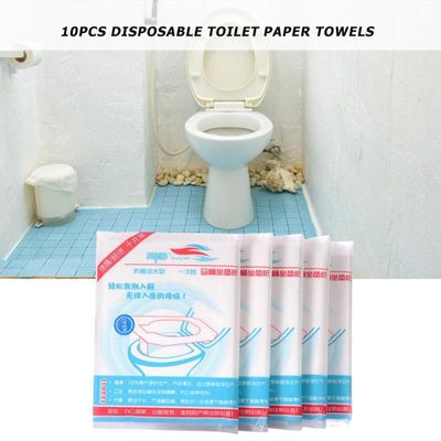 2019 10pcs Disposable Toilet Seat Cover Home Travel Bathroom Toilet Paper Pads Disposable Toilet Tissue