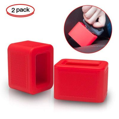 Car Seat Belt Buckle Holder Made of environmentally friendly silicone & Children can safely touch