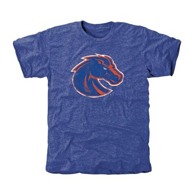 Boise State Broncos Classic Primary Tri-Blend T-Shirt - Royal Blue