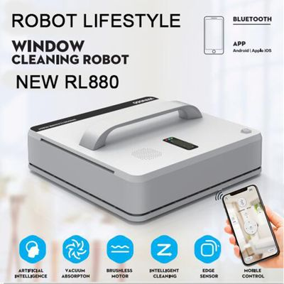 Window Cleaning Robot RL880 Magnetic Vacuum Cleaner, Anti-falling,Remote Control, Auto Glass Washing, 3 Working Modes WIN660