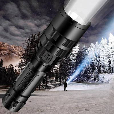 Hot 50000lm T6 Tactical Military Led Flashlight 18650 Torch Direct Charge 5-mode Light For Outdoor Camping Flashlight Mountains