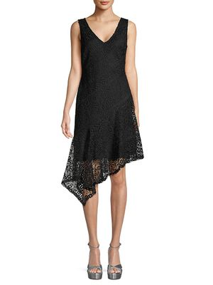 Donna Karan Asymmetrical Lace Dress