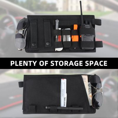 Kosibate Tactical Molle Vehicle Visor Panel Tool Pouch CD Storage Bag Truck Car Sun Visor Organizer Auto Gear Accessories Holder