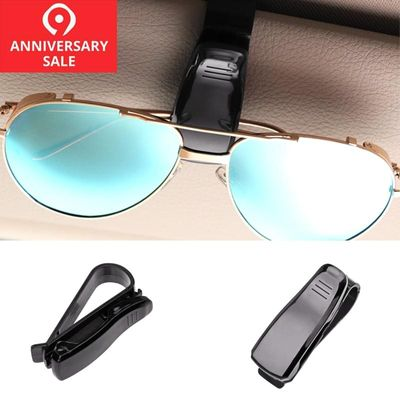 Car Sun Visor Sunglasses Eyeglasses Glasses Holder Clip Hanger Ticket Clip Fastener Holder Auto Accessories for Car