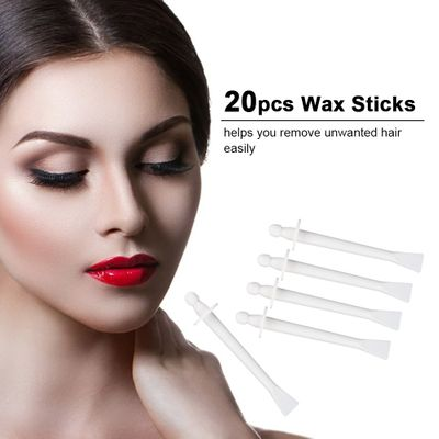 20pcs 2-In-1 Wax Stick for Face Nose Eyebrow Hair Removal Wax Applicator Professional Hair Removal For Beauty Tools Waxing Stick