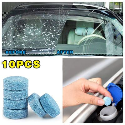 10PCS/Pack Car Windshield Solid TabletsWiper Fine Wiper Cleaning Car Accessories  Auto Window Cleaning Household Cleaning Tablet