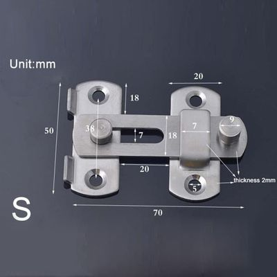 Door Bolt with Screw Latch Slide Catch Lock Home Safety Gate Hardware Stainless Steel #05