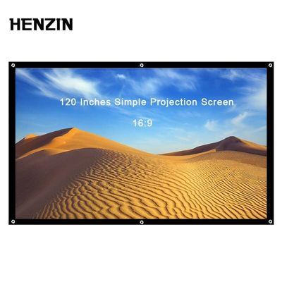 120 inch 16:9 Screen for Projector Portable Projector Screen Foldable Projection Screen Front Rear For Home Theater Outdoor