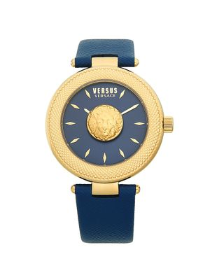 Versus Versace Stainless Steel Leather-Strap Watch