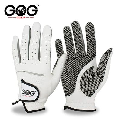 Men's Left Right Hand Soft Breathable Pure Sheepskin Golf Gloves Genuine Leather Golf Gloves Free Shipping