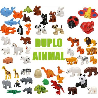 Big Animal Figures Compatible Duploed big Size Building Block DIY Cartoon Animal Brick Educational Toy For Children Xmas Gifts